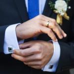 Boutons de manchette pour hommes et jour de mariage !